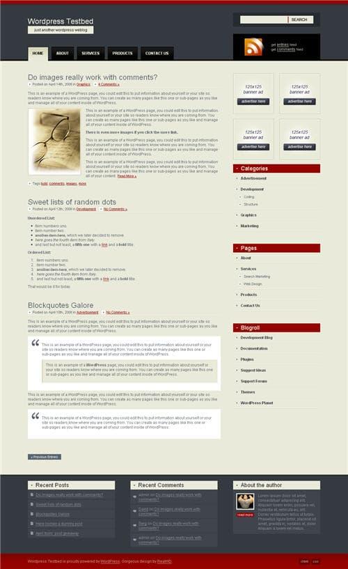 RealWD Elegante WordPress Theme