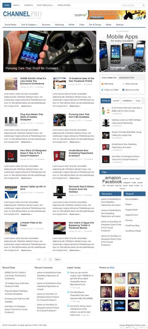 Channel Pro Magazine WordPress Theme