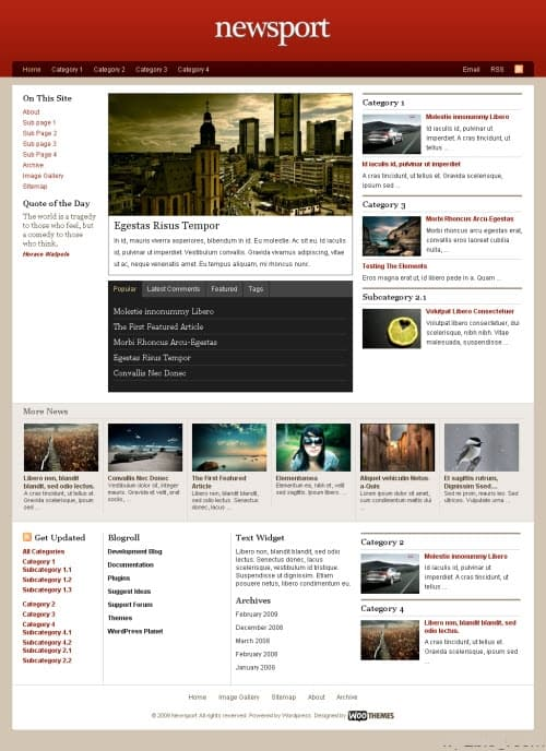 newsport wordpress theme