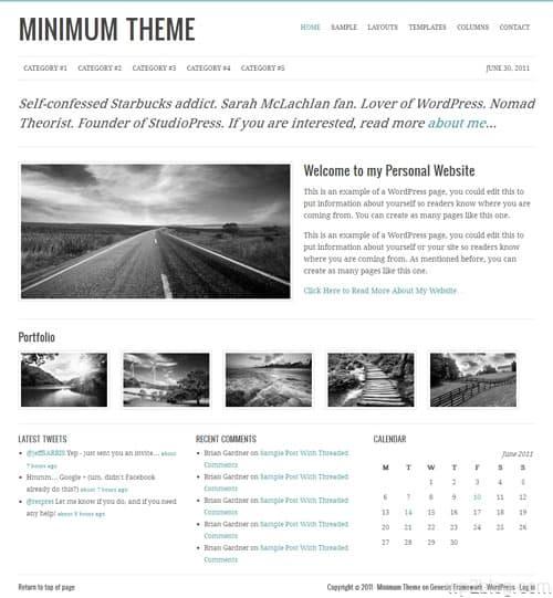 Minimum Premium WordPress Child Theme