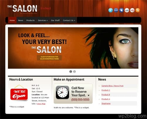 The Salon Premium WordPress Theme