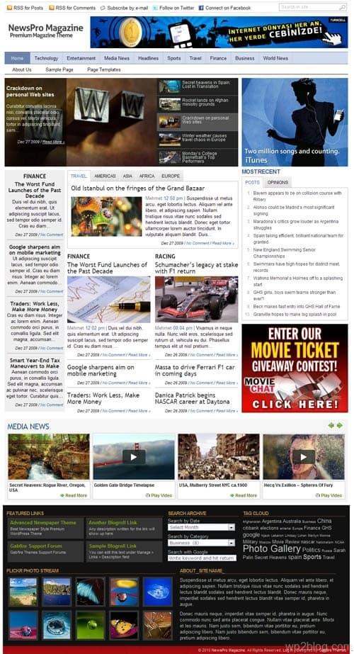 NewsPro Magazine WordPress Theme