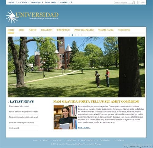 Universidad Premium WordPress Theme