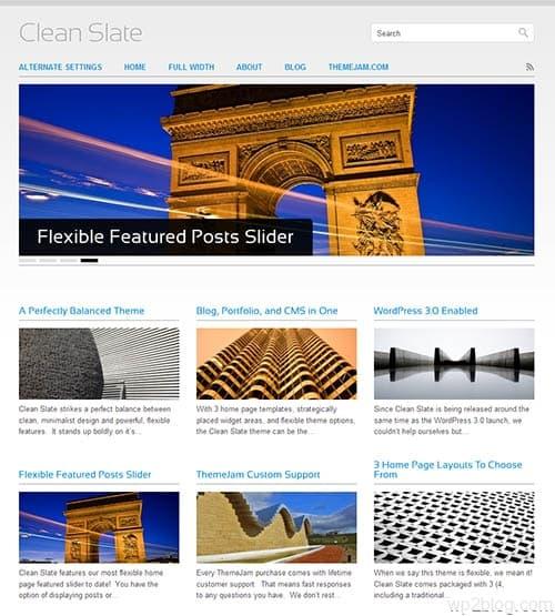 clean slate wordpress theme