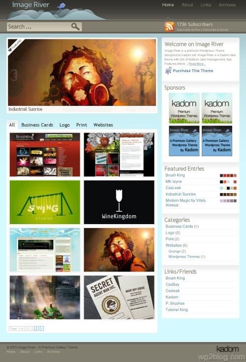 image river wordpress theme