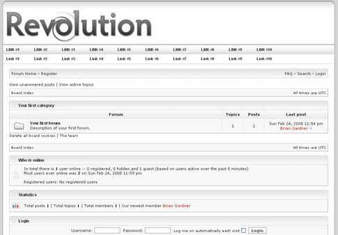 Revolution Tech Forum Template