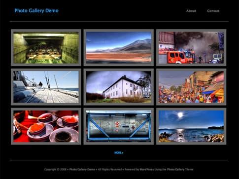 Photo Gallery Theme Black