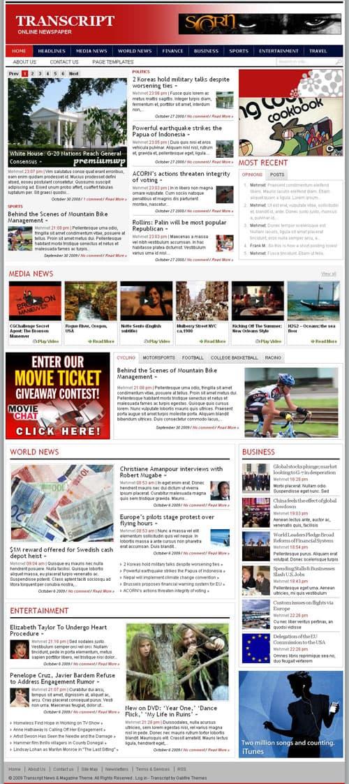 Transcript-magazine-wordpress-theme
