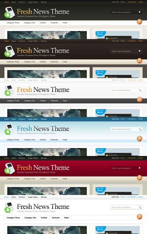Fresh News Theme Colours