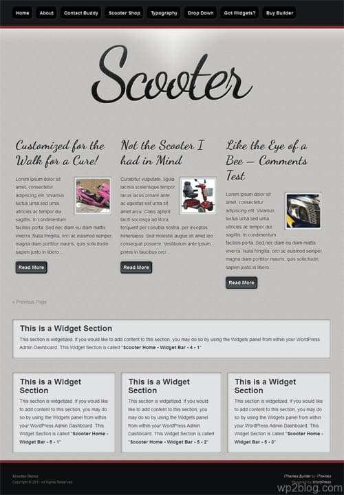 Scooter Retro Style WordPress Theme