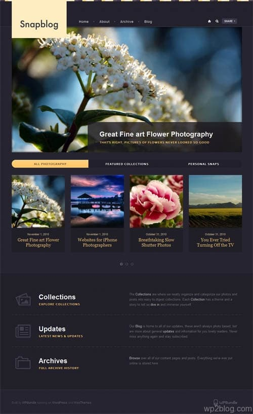 snap blog wordpress theme