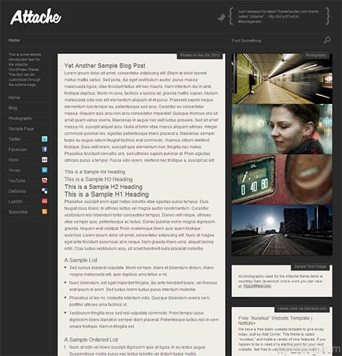 attache wordpress theme