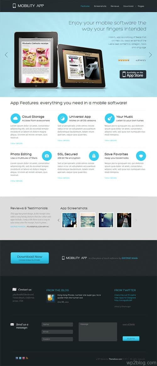 mobility app wordpress theme