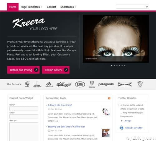 kreera wordpress theme