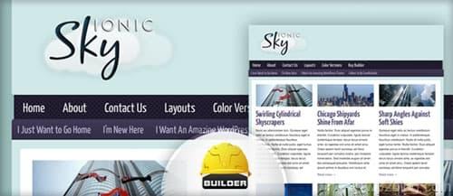 ionic sky wordpress theme