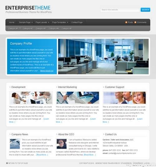 Enterprise Premium WordPress Theme