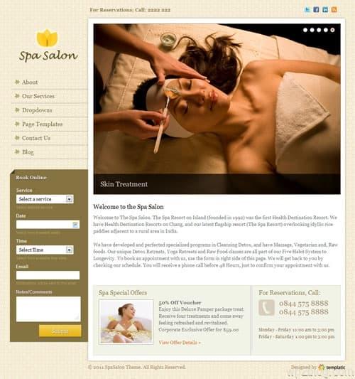 Spa Salon Business WordPress Theme