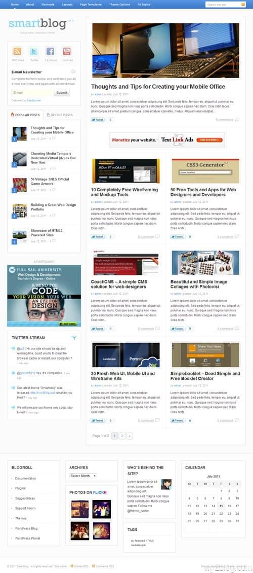 Smart Blog Premium WordPress Theme