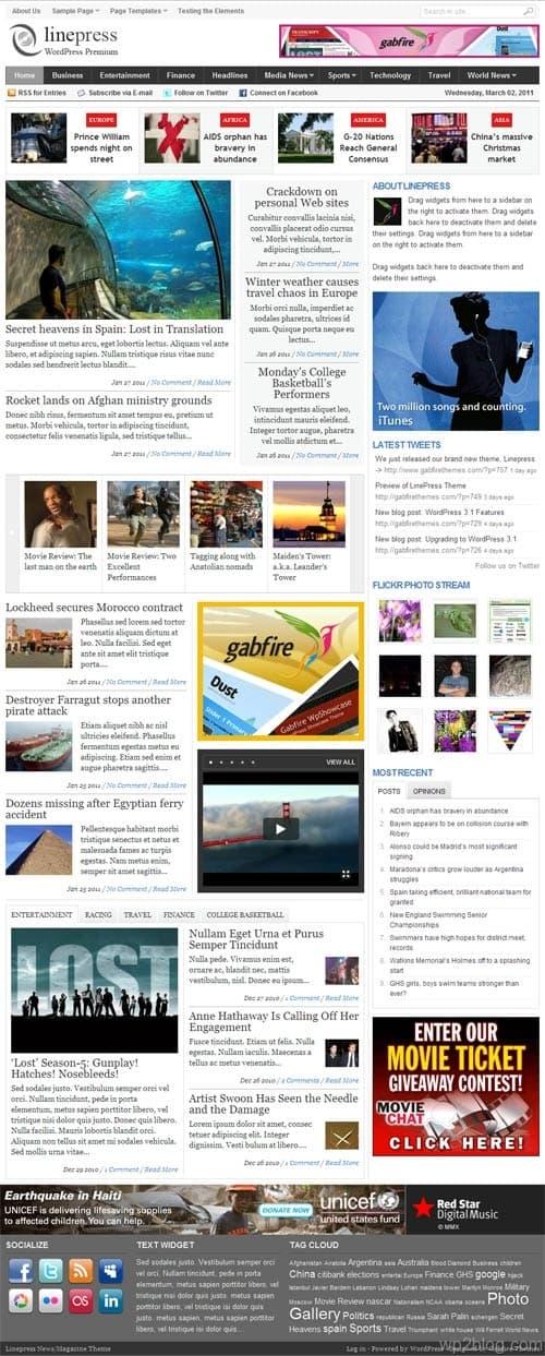 LinePress Premium WordPress Theme