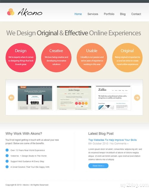 Akono Premium WordPress Themes