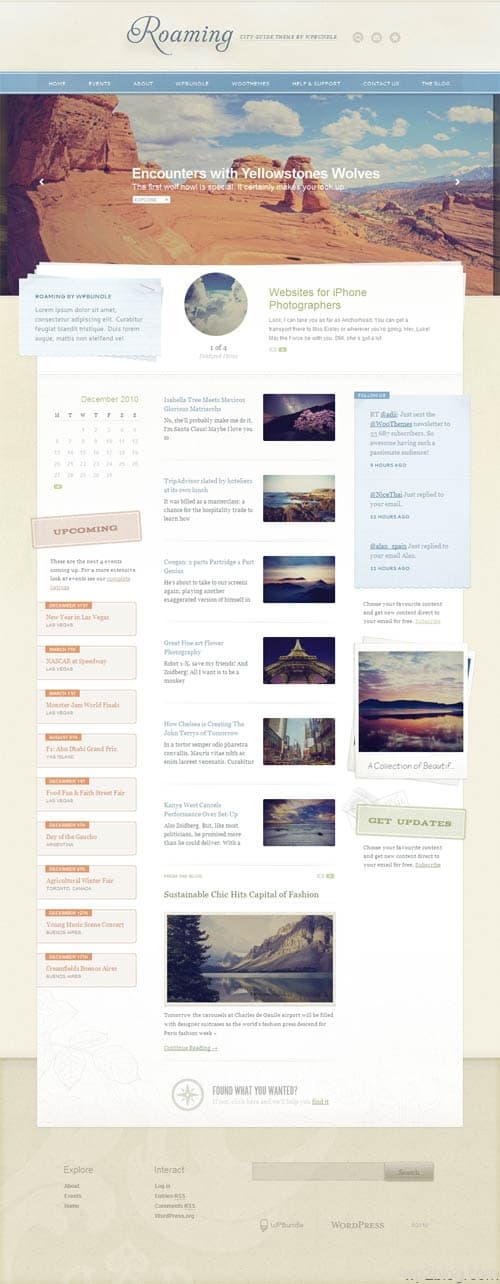 roaming wordpress theme