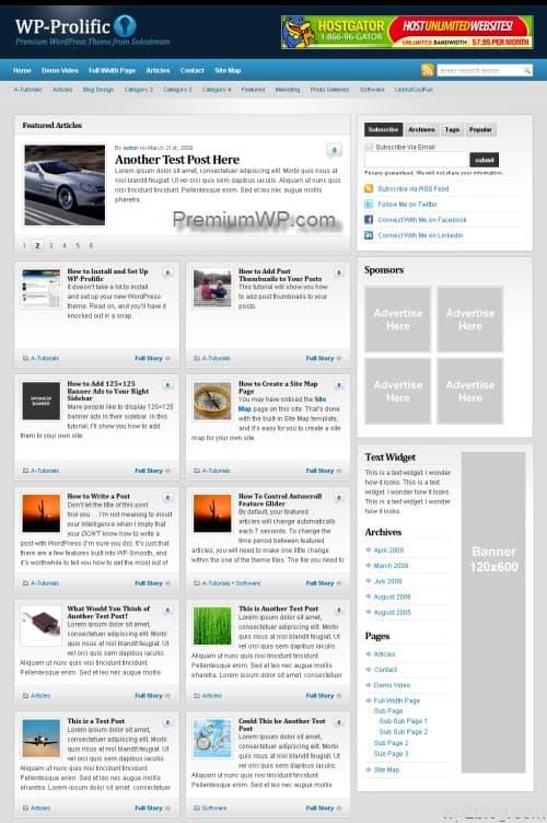 wp-prolific wordpress theme