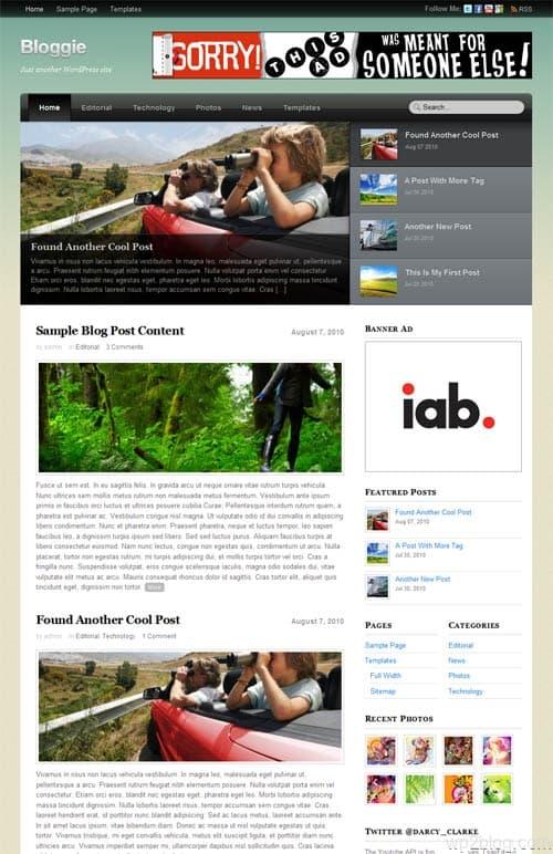 Bloggie Premium WordPress Theme