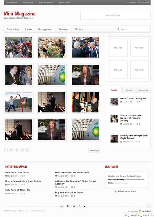 Mini Magazine Premium WordPress Theme