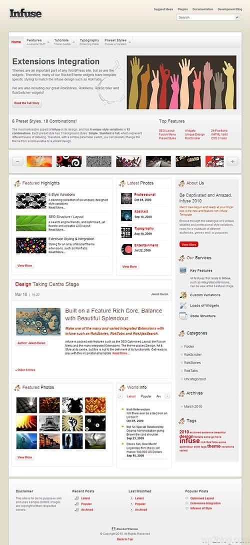 Infuse Premium WordPress Theme