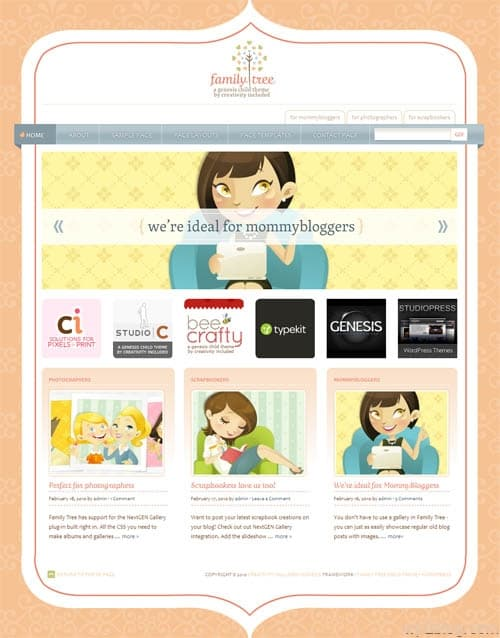 Family Tree WordPress Theme