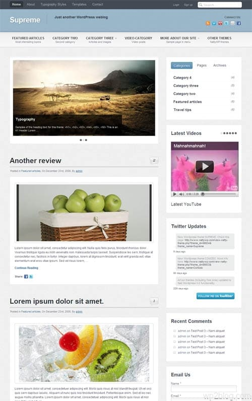 Supreme Premium WordPress Theme