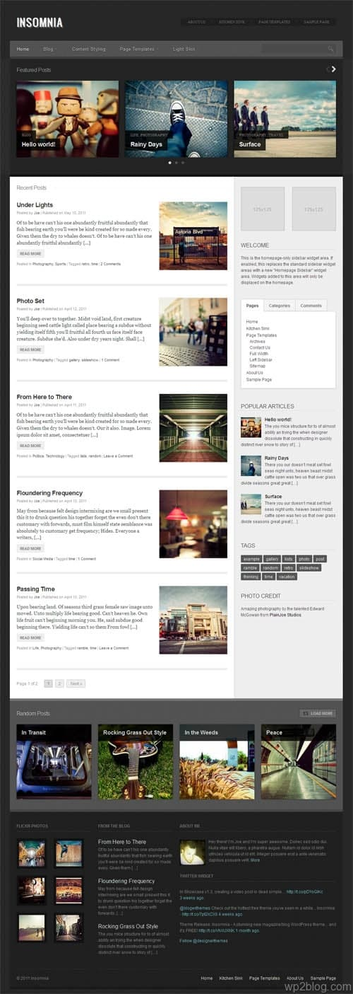 Insomnia Magazine WordPress Theme