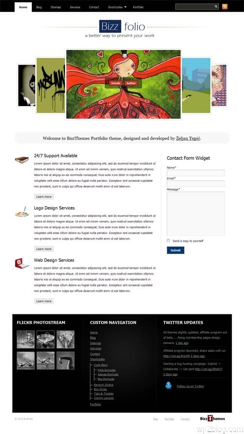Bizz Folio Premium WordPress Theme