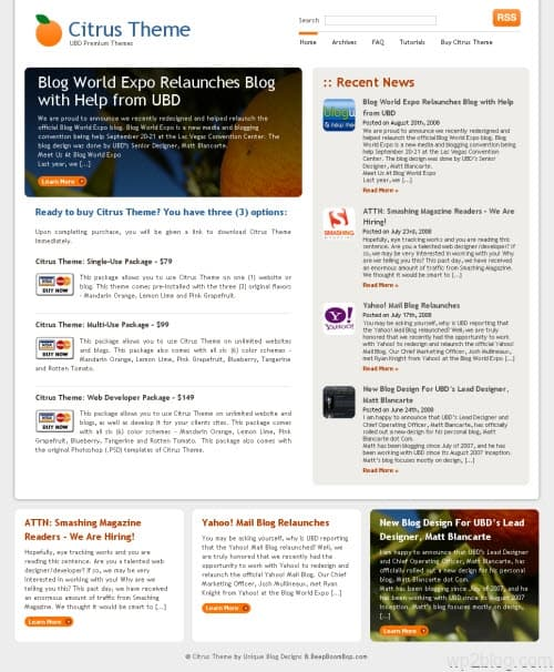 citrus wordpress theme