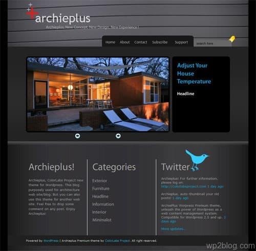 Architecture WordPress Theme ArchiePlus