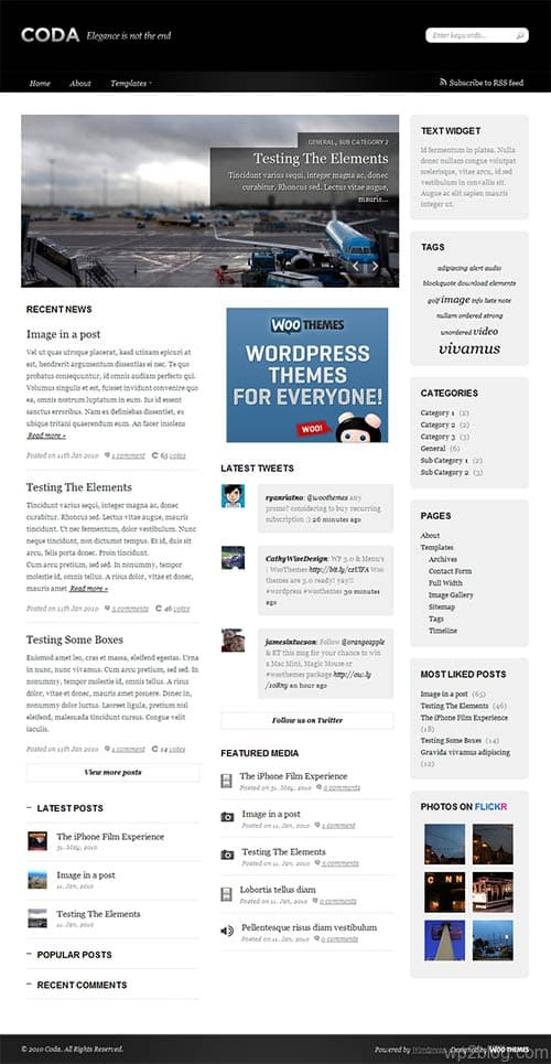 coda wordpress theme
