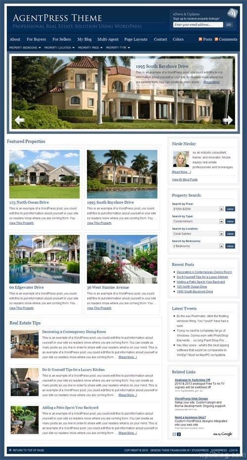 agentpress wordpress theme