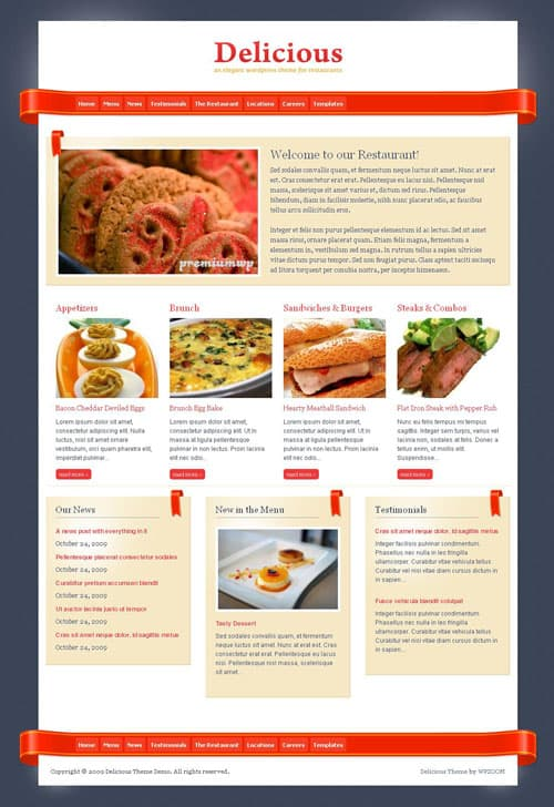 Delicious-WordPress-Theme