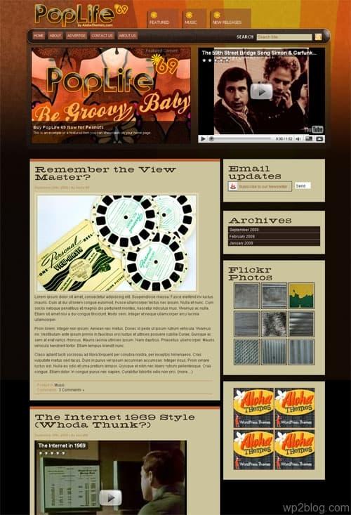 PopLife69 WordPress Theme
