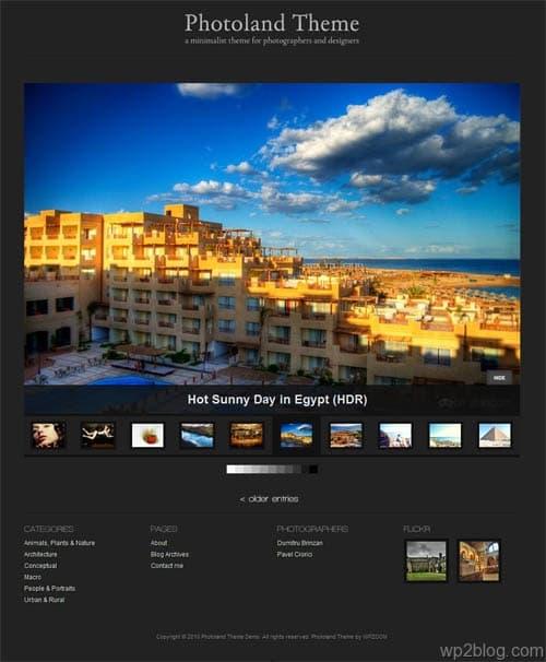 photo land wordpress theme