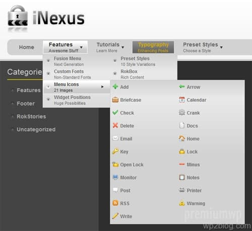 wordpress fusion menu