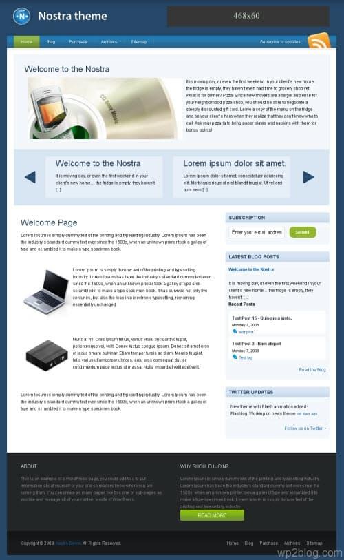 nostra wordpress theme