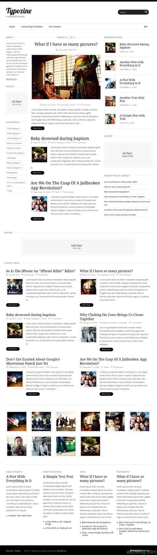 Typozine Premium WordPress Theme