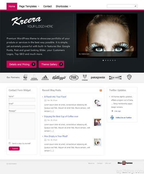 Kreera Business Premium WordPress Theme