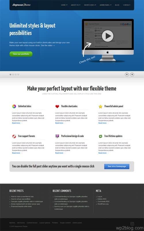 Impressa Business WordPress Theme