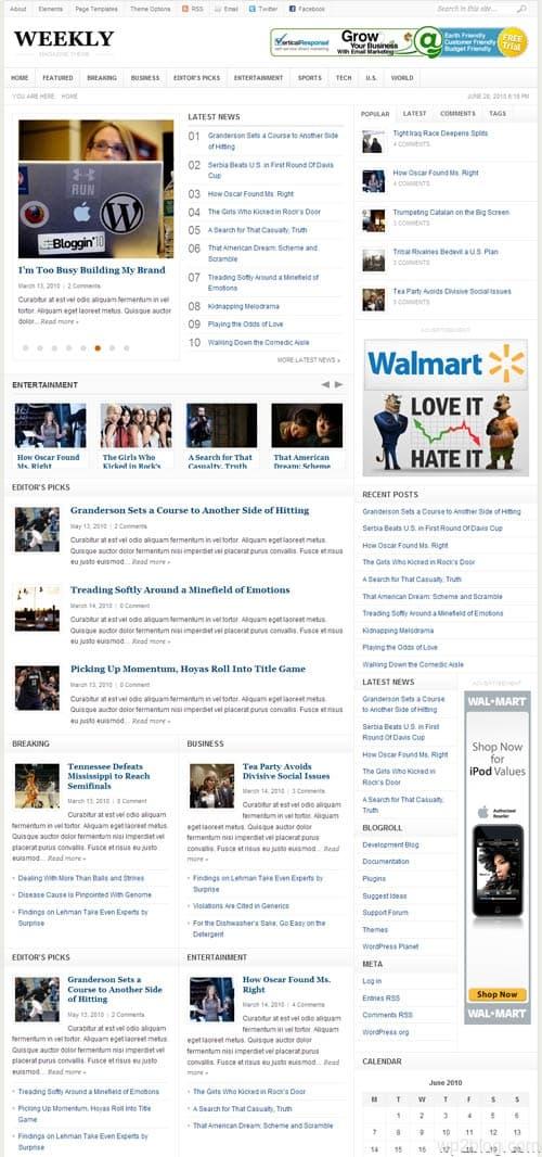 Weekly Premium WordPress Theme