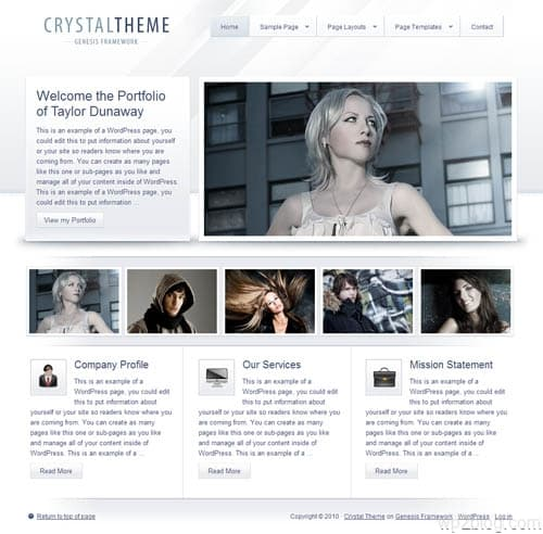 StudioPress Crystal Premium WordPress Theme