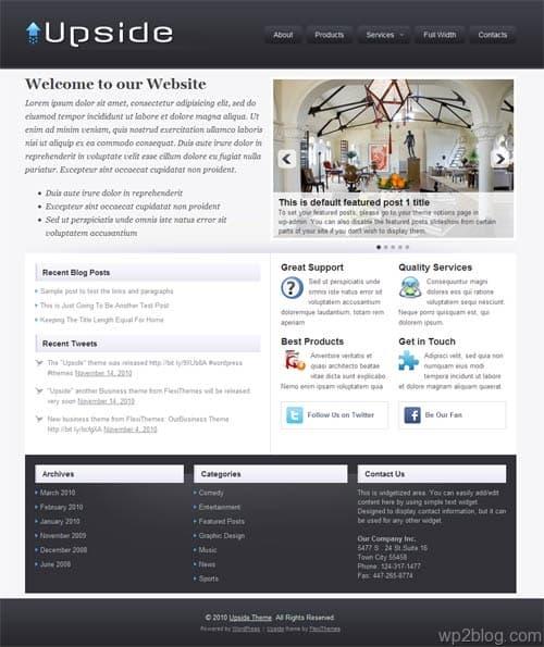 Upside Business WordPress Theme