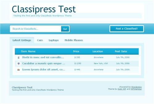 Classipress wordpress theme