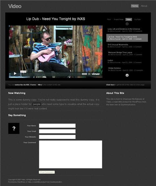 Quommunication Video WordPress Theme